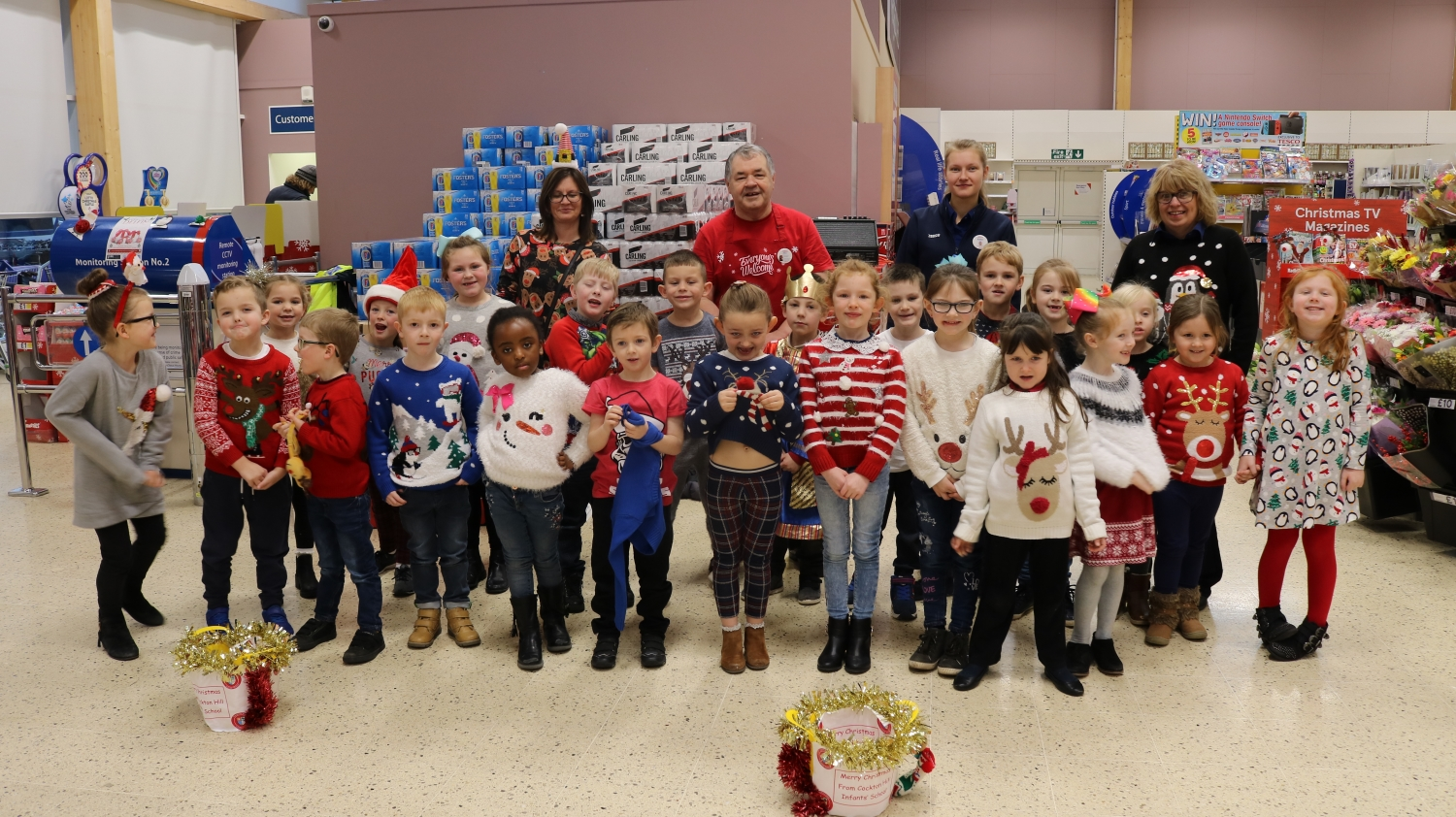 Tesco Carol Singing And Christmas Jumper Day